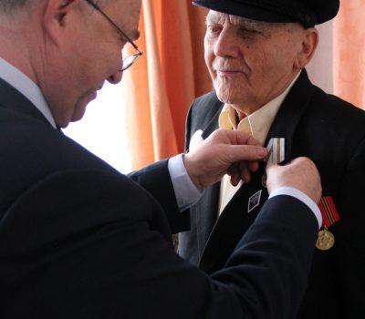 вручение юбилейных медалей к 75-летию Победы в ВОВ