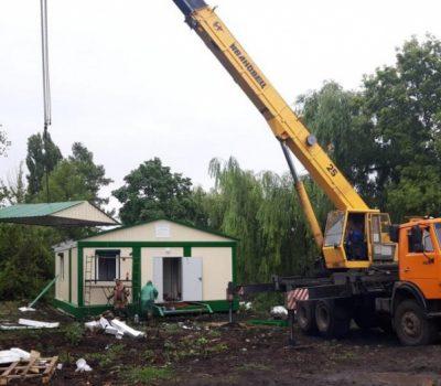 Блочно-модульный фельдшерско-акушерский пункт построили в селе Александровка