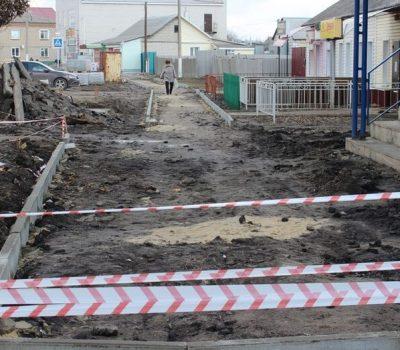 Плиточный тротуар появится в Таловой